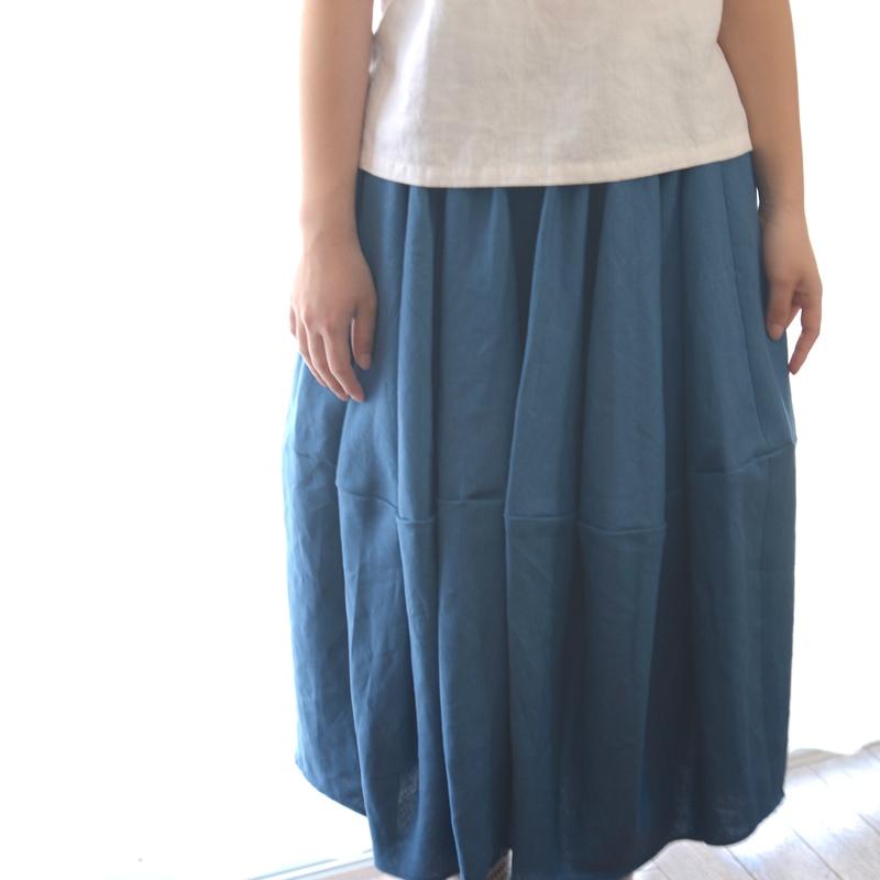 バレルスカートSlate Blue1