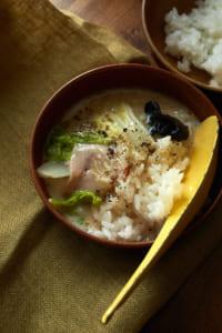 ハムと白菜のオイスタークリーム鍋(アレンジ)